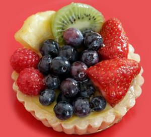 Fruit and Yogurt Almond Tart