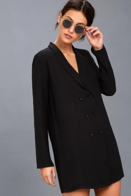 Must-Have Long Sleeve Dresses   Blazin Black Long Sleeve Dress