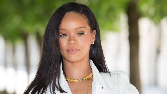 Rihanna attends the Louis Vuitton Menswear