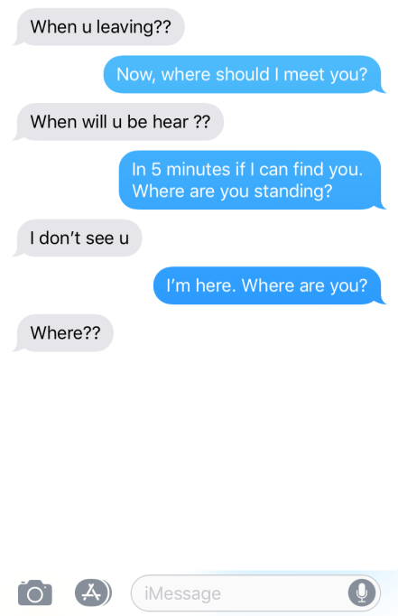 """The Funniest """"Texts from My Teen"""" - the blind leading the blind"""