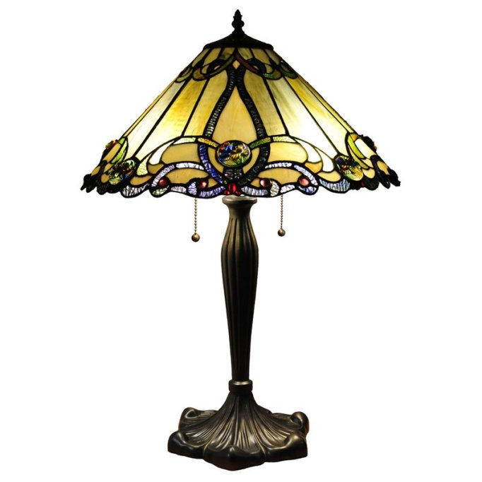 Modern Victorian Decor: Swap out that Einstein bulb for a Tiffany lamp