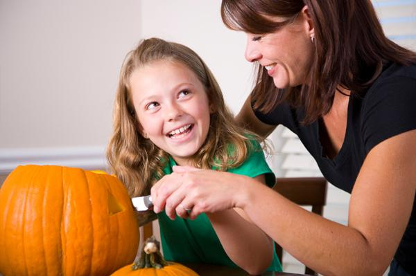 With the right tools, pumpkin carving
