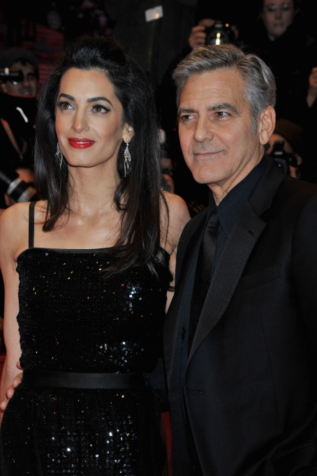 George and Amal Clooney at the premiere of Hail Caesar