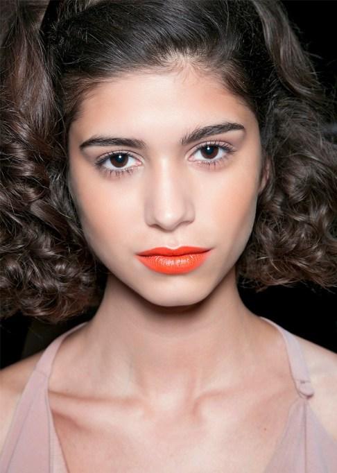 30 Summer Makeup Ideas: Orange Lipstick