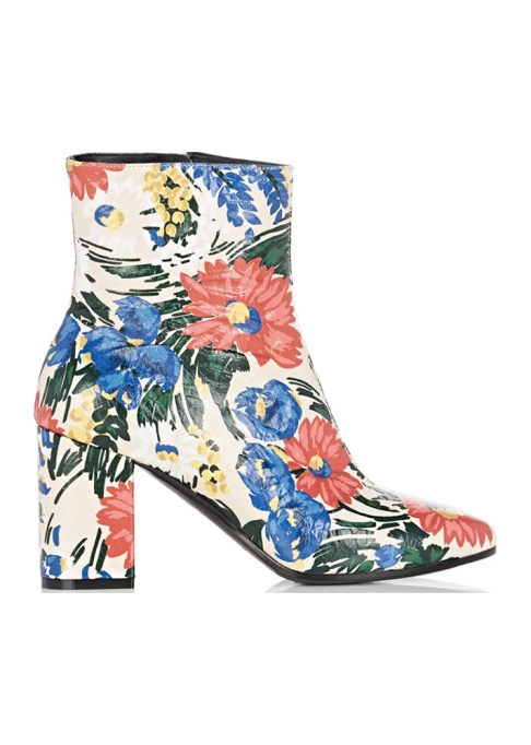 Fall Boots To Shop Before They Sell Out: Balenciaga Floral Leather Ankle Boots | Fall Fashion Trends 2017