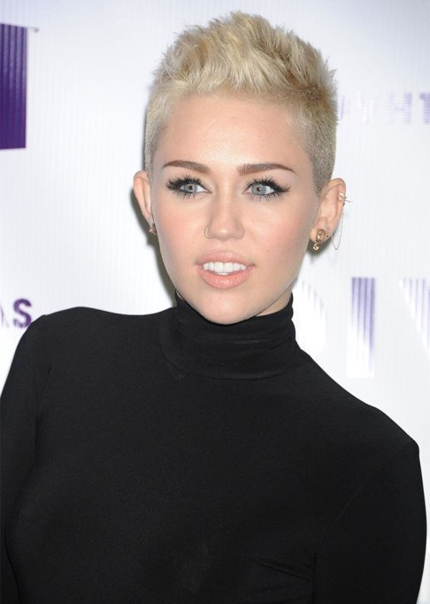 Dramatic Celebrity Hair Makeovers | After: Miley Cyrus