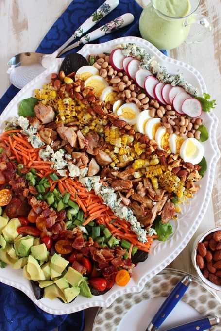 50 Easy Summer Salads: Barbecue Chicken Cobb Salad With Avocado Ranch Dressing | Summer Eats