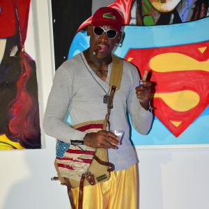 Post–North Korea trip, Dennis Rodman checks