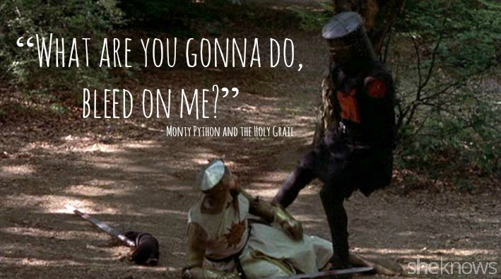 """Best Monty Python Quotes 15 Best quotes from """"Monty Python and the Holy Grail – SheKnows Best Monty Python Quotes"""