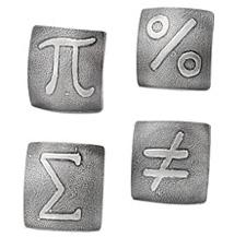 Mathematics cufflinks