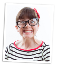 Geeky woman