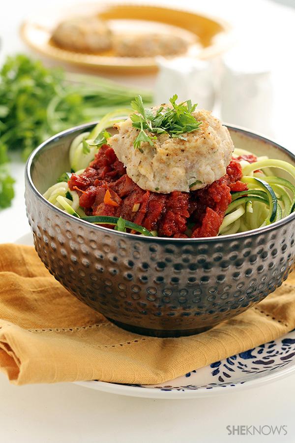 Cauliflower-feta 'meatballs'