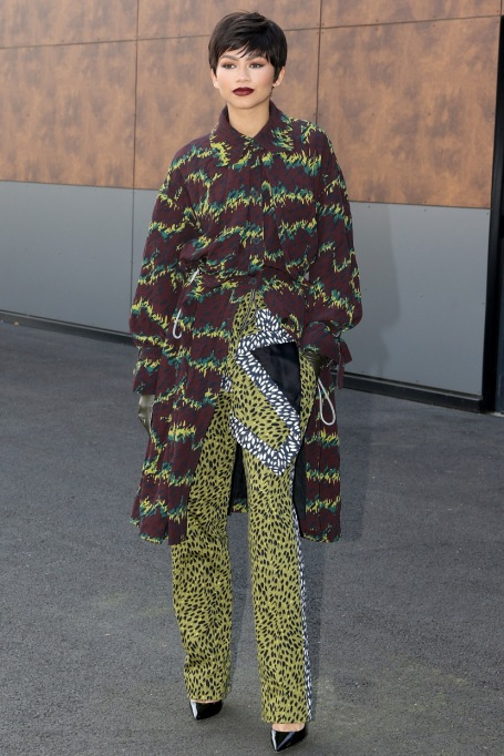 Zendaya's Killer Fashion Choices | Arriving at the Kenzo show as part of the Paris Fashion Week Womenswear Spring/Summer 2016