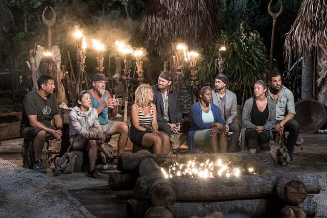 Gen-X tribe at Tribal Council on Survivor: Millennials Vs. Gen-X