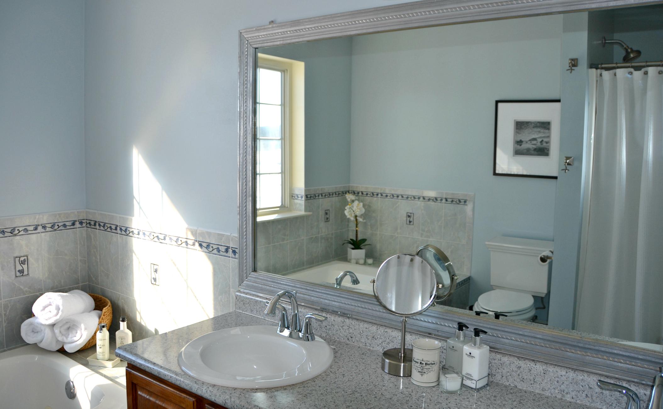 gentle gray bathroom