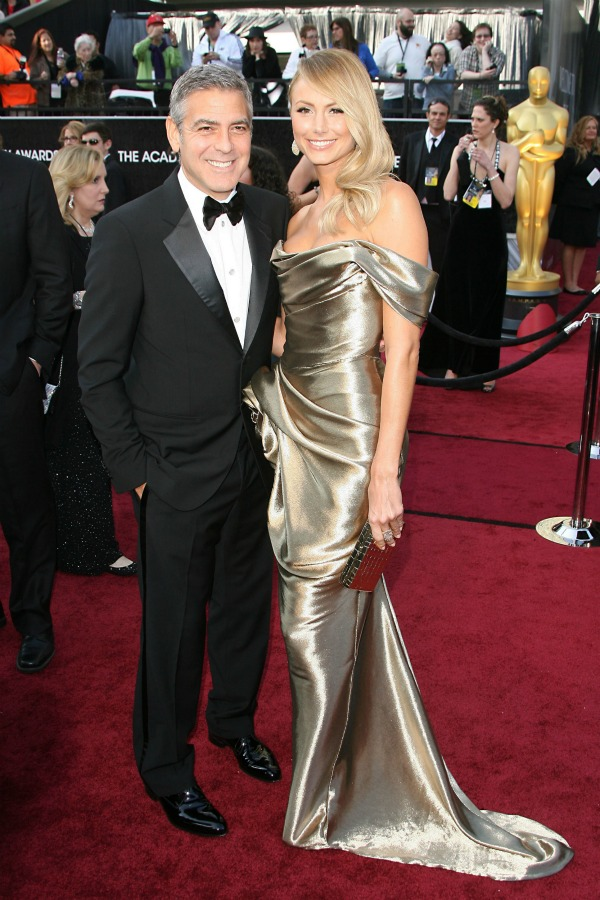 George Clooney and Stacy Keibler - Oscars