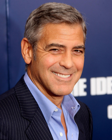 George Clooney winking