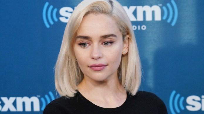 Emilia Clarke takes part in SiriusXM's