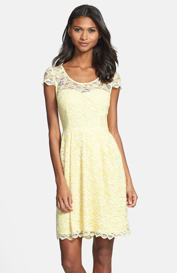 Steal the look: Betsey Johnson Illusion Yolk Lace Dress (nordstrom.com, $118)
