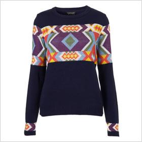 Bold print sweater