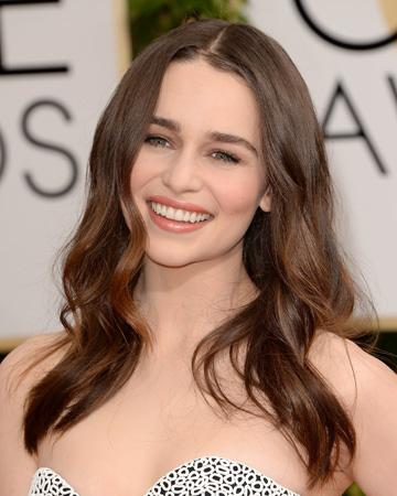 Emilia Clarke's 2014 Golden Globes hair