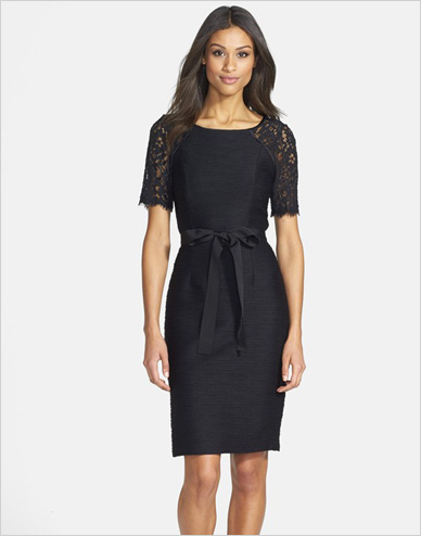 Shop the look: Nue by Shani Lace Contrast Ottoman Knit Dress (nordstrom.com, $336)