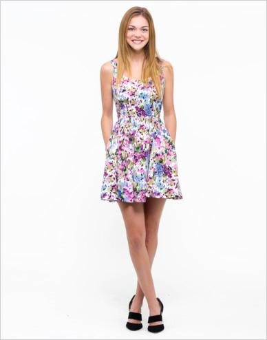 Shop the look: Oak73 Painted Floral Dress ($110)
