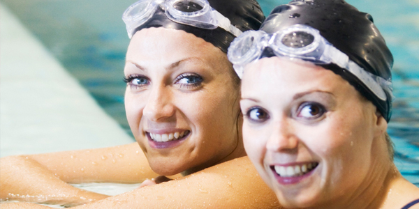 Two female swimmers.