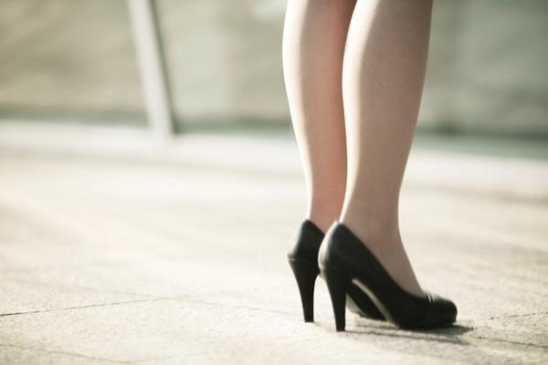 Businesswoman wearing high heels