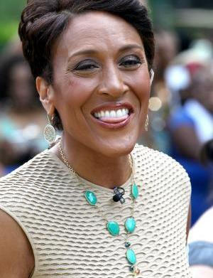 Robin Roberts leaves the hospital, on