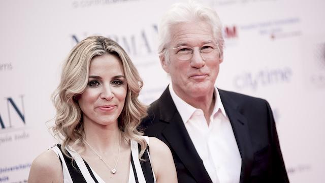 Alejandra Silva & Richard Gere attend the premiere of 'Norman'