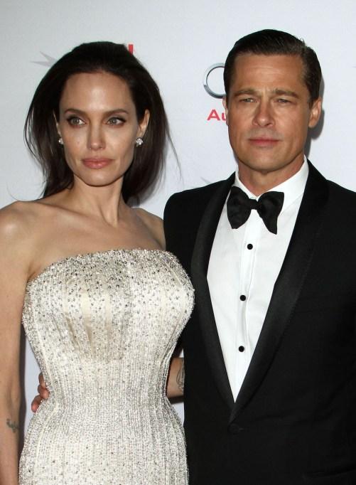Angelina Jolie Pitt Brad Pitt November 2015