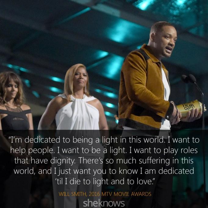 Will Smith quote MTV Movie Awards