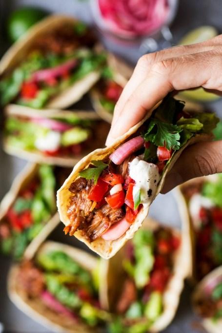 Recipe swaps to help your partner eat healthier | pulled jackfruit tacos