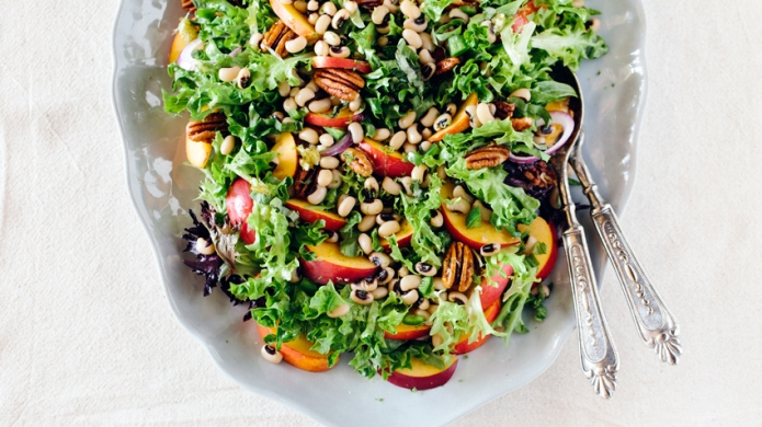 Black-Eyed Pea Salad with Peaches and