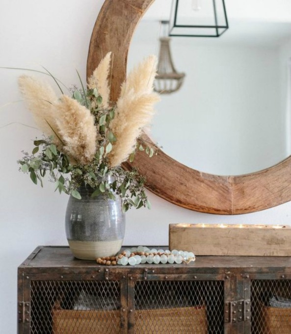 2018 Spring Decor Trends Pampas Grass Accents