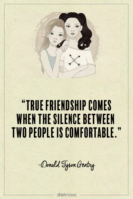 Donald Tyson Gentry quote about friendship