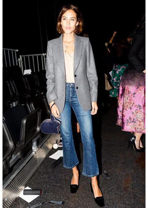 Celebrities Who Wore Wide Leg Jeans and Looked Damn Good | Alexa Chung