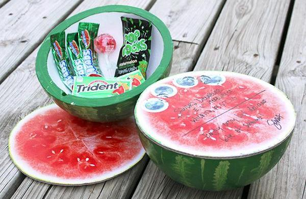 Make a watermelon package box to