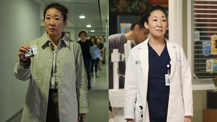 Photo collage of Sandra Oh in