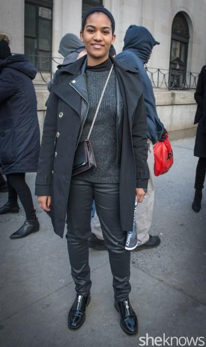 Pants, coat, bag, jacket, shoes