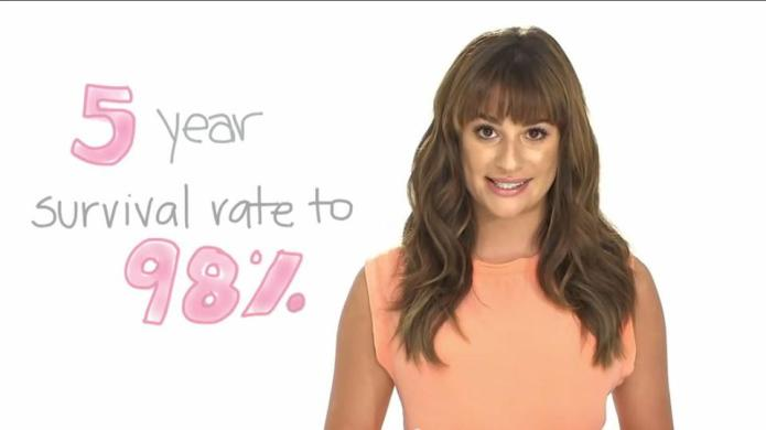 Lea Michele asks you to spend