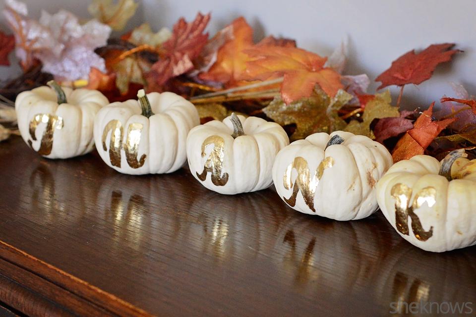 Gilded pumpkin DIY