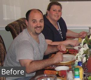 Gina before weight loss