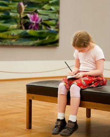 Girl in art museum