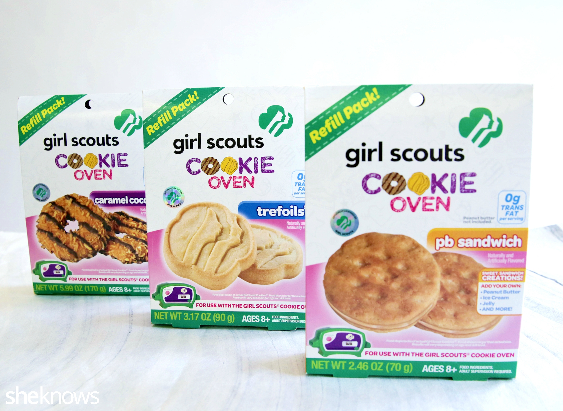 girl scout cookie oven cookie mixes