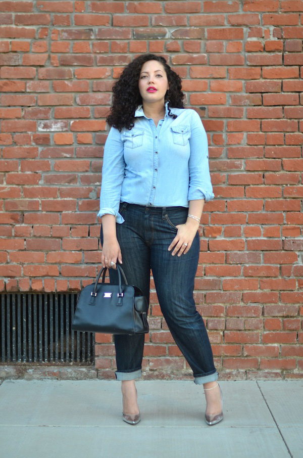 girlwithcurves chambray on repeat