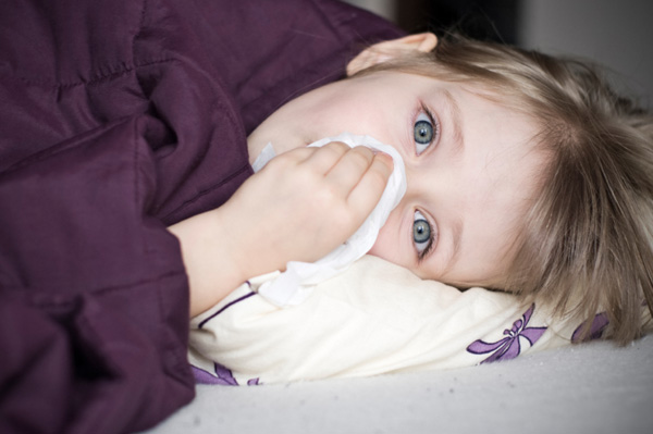 Girl with fever