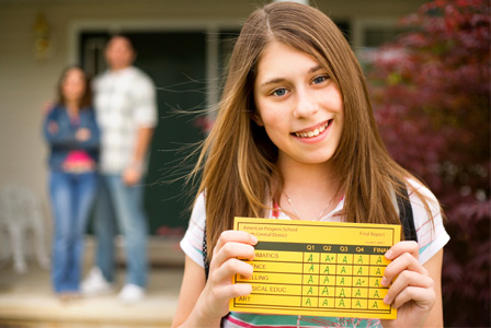 Girl with good grades