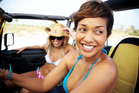Girlfriends on road trip